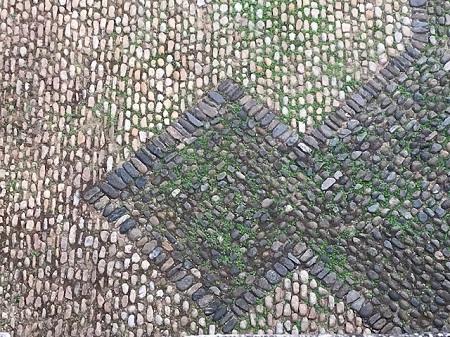 Ground with stone arrow_0597